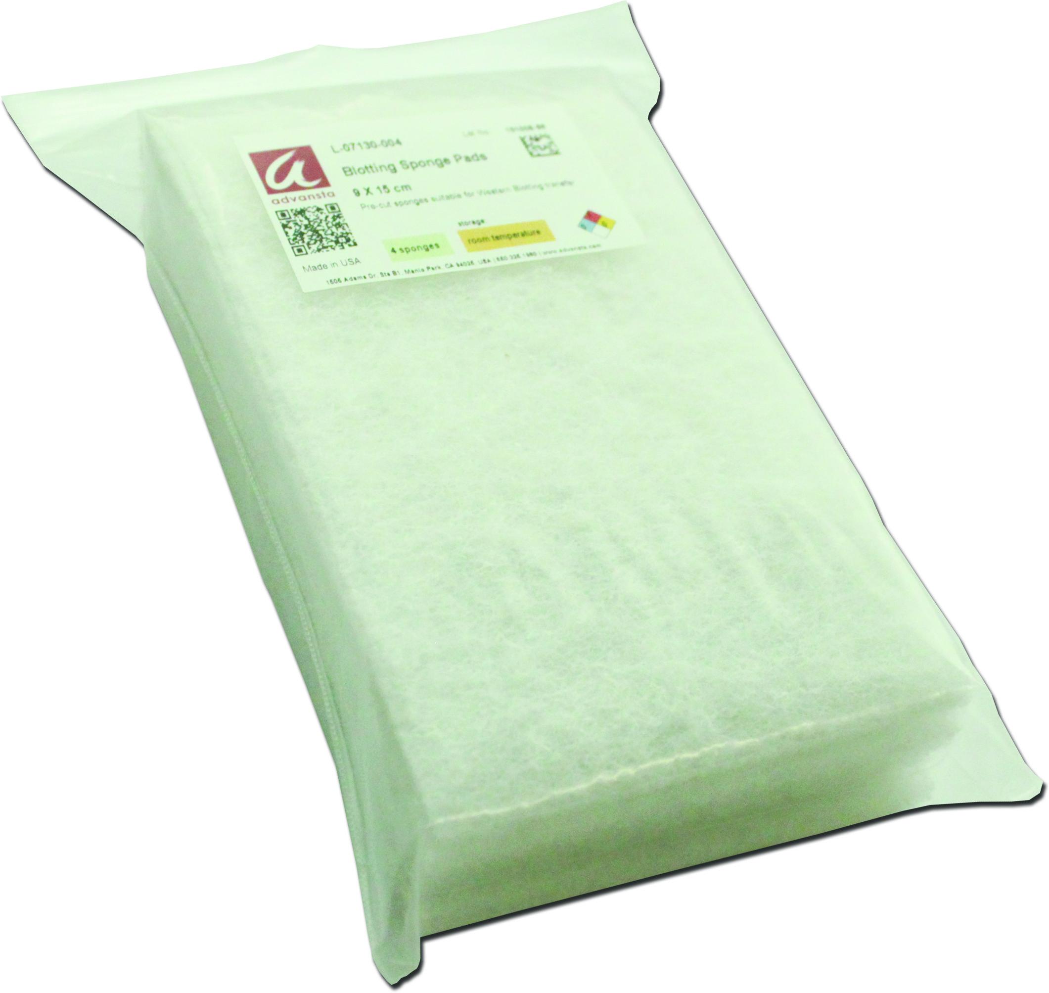Blotting sponge pads